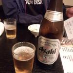 魚と酒菜 - 飲み放題 アサヒスーパードライ瓶ビール(2015.05.30)