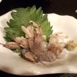魚と酒菜 - シャコの刺身 <税込>830円(2015.05.30)