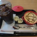 ベックスコーヒーショップ - すがもんプリン+アイスコーヒー ¥550-