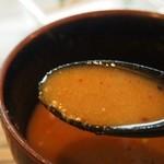 吟醸らーめん 久保田 - スープ割り