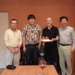 Maison de h-l'E´ridan - 長山校長、私、橋本シェフ、小田先生