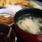 一魚一栄 - 金平ごぼう 味噌汁