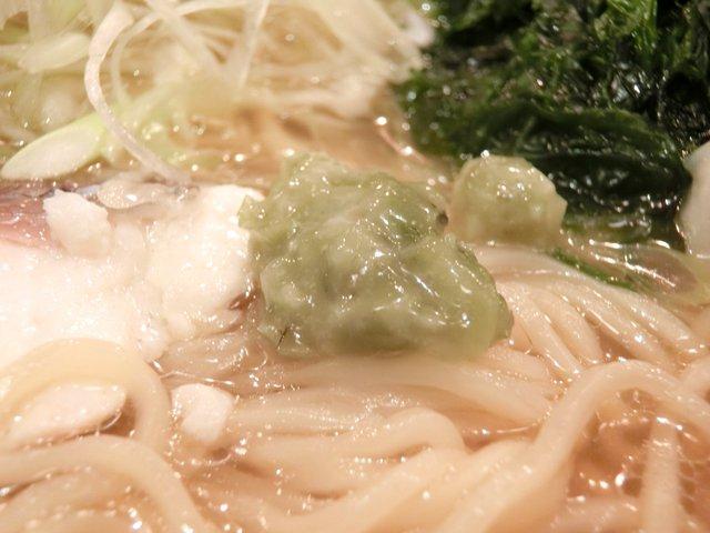焼きハマグリ新三郎 - はまぐりらーめん 939円 の山葵