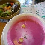 カフェレストラン 瀬里家 - 自家製ハンバーグセット~スープ&サラダ