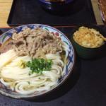 38587203 - 肉ぶっかけうどん大(550円)