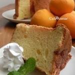 Cafe Anmar - オレンジのシフォンケーキ(期間限定)ケーキセット650円