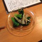 38589521 - お通し 300円×人数                       小松菜&みょうが