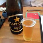 38589529 - サッポロ黒ラベル(中瓶) 600円