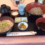 法曹会館 マロニエ - 和定食 ソバ ミニ丼セット840円