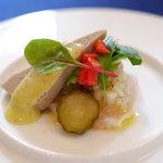 レストラン フィーネ - 鮎のパテとカンパチのカルパッチョ