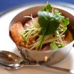 レストラン フィーネ - 鴨のロワイヤルとコンフィのサラダ