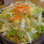 まつや - とり野菜鍋 豚肉(3人前)