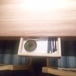 Hokkaidouhadekkaidouohotsukunomegumiabashirishi - テーブルの小物入れ