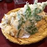手打そば 葉菜 - 天ぷら盛り合わせ