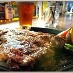 ブロカント - ブロカントステーキ。十勝の牛とのこと。すごく美味しい!