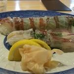 38609167 - 期間限定ケンサキイカ活姿寿司