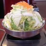 38609344 - びわこ食堂(滋賀県長浜市高月町)とりやさい鍋700円〜山盛り野菜でこのCP!