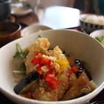 やぐやキチジョウジ - 白身魚の香味ダレ定食