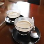 やぐやキチジョウジ - ランチデザートのコーヒーゼリー