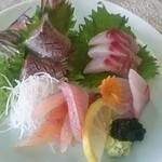 Izunosuke - 三色さしみ定食 おさしみ