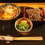 蓮生 - ミニザルセット(かも玉丼)