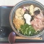 桂庵手打そばうどん - 田舎うどん  冷太麺に変更  800円