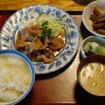 山孝食堂 - 焼肉定食 600円