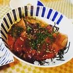 バラモン食堂 - 日替りランチ(例漬け丼)