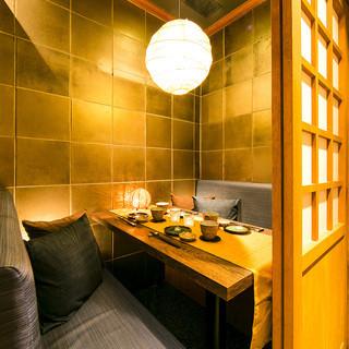 落ち着きある完全個室で薩摩料理と厳選焼酎をご堪能ください。