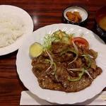 38623917 - ドンキー @板橋区役所前 ランチ 豚肉の生姜焼き ドリンク無し 750円(税込)