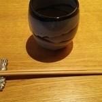 紬山荘 - まずはお茶で一服…。