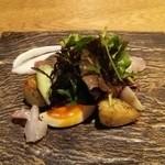 紬山荘 - お蕎麦のコース。前菜から…。
