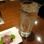 京ちゃばな 北新地 ほっこりほっこり - 芋の濃い目の水割り♪