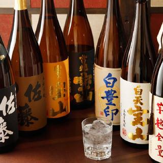 日本全国から仕入れる厳選焼酎・地酒