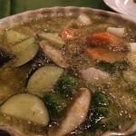 トラットリア ジョイア - 海老と野菜のアヒージョ バケット付