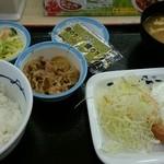 松屋 - ソーセージエッグ定食  ¥400