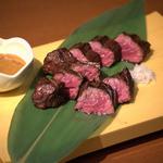 時遊食ダイニング『Kiraku』 - サガリの炭火焼 特製味噌で