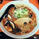 辛口肉ソバ ひるドラ - 【辛口ガチ味噌肉ソバ + 味玉】¥800 + ¥100