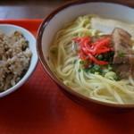 食堂 満八 - 料理写真:八重山そば&ジューシーセット