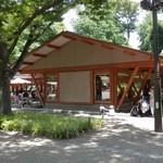 パークサイドカフェ - 木造ガラス張り