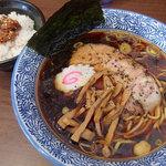 38649120 - 【季節限定】国分寺BLACK(780円)+肉ごはん(ランチタイム100円)
