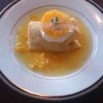 四季 - <オレンジクレープシュゼット ¥680>オレンジの爽やかな香りがたまらない! 大人のスイーツ♪自家製ホイップとオレンジの酸味が抜群