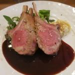 モンプチコションローズ - 27年5月 NZ産仔羊のロースト ひよこ豆のポテサラ