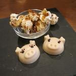モンプチコションローズ - 27年5月 豚チョコ、ポップコーン