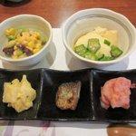 仙石原品の木一の湯 - 珍味盛り合わせ+名物一の湯豆腐2015.05.24