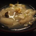 京料理かねき - ずいきと鮑の吉野葛煮