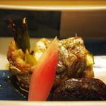 京料理かねき - 太刀魚のアスパラ巻焼き