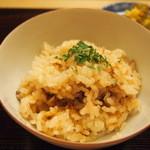 京料理かねき - 蛸と筍のご飯