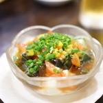 潮州 - 彩りピータン豆腐