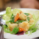 潮州 - 海老と九条葱のガーリック炒め
